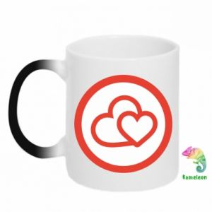 Magic mugs Two hearts