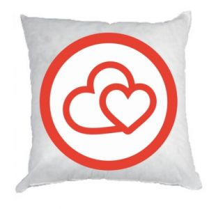 Pillow Two hearts