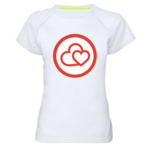 Women's sports t-shirt Two hearts