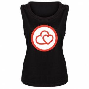 Damska koszulka Dwa serca - PrintSalon