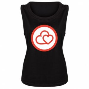 Damska koszulka bez rękawów Dwa serca