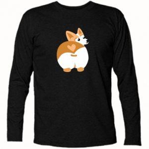 Long Sleeve T-shirt Corgi heart - PrintSalon
