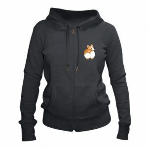 Women's zip up hoodies Corgi heart - PrintSalon