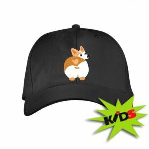 Kids' cap Corgi heart - PrintSalon