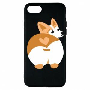 Phone case for iPhone 7 Corgi heart - PrintSalon