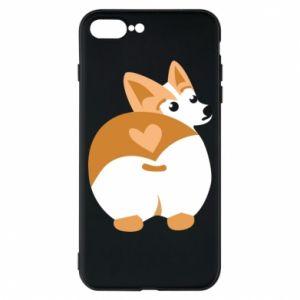 Phone case for iPhone 7 Plus Corgi heart - PrintSalon