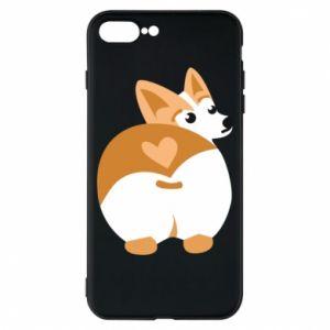 Phone case for iPhone 8 Plus Corgi heart - PrintSalon