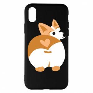 Phone case for iPhone X/Xs Corgi heart - PrintSalon