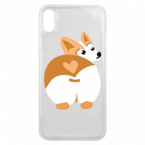 Phone case for iPhone Xs Max Corgi heart