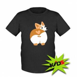 Dziecięcy T-shirt Serce Corgi - PrintSalon