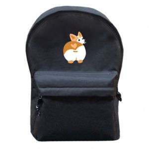 Backpack with front pocket Corgi heart