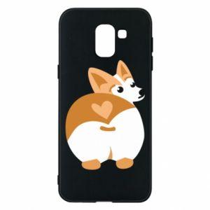 Phone case for Samsung J6 Corgi heart - PrintSalon