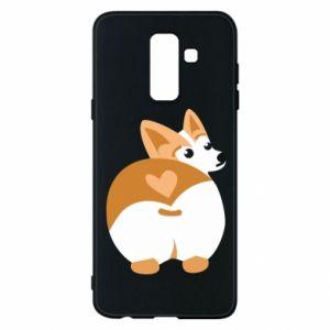 Phone case for Samsung A6+ 2018 Corgi heart - PrintSalon