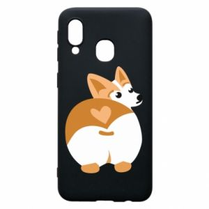 Phone case for Samsung A40 Corgi heart - PrintSalon