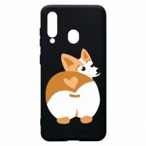 Phone case for Samsung A60 Corgi heart - PrintSalon