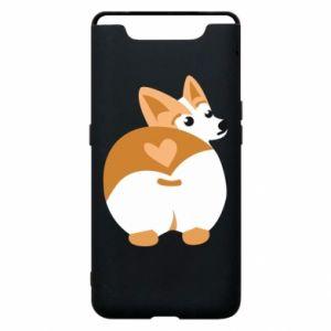 Phone case for Samsung A80 Corgi heart - PrintSalon