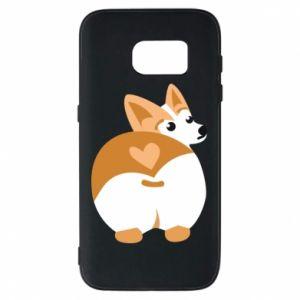 Phone case for Samsung S7 Corgi heart - PrintSalon