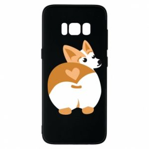 Etui na Samsung S8 Serce Corgi - PrintSalon