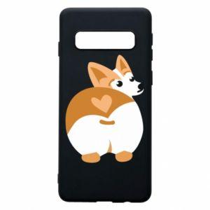 Phone case for Samsung S10 Corgi heart
