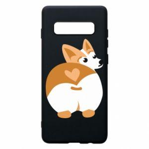 Phone case for Samsung S10+ Corgi heart - PrintSalon