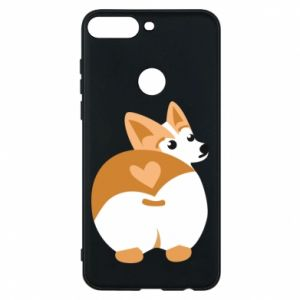 Phone case for Huawei Y7 Prime 2018 Corgi heart