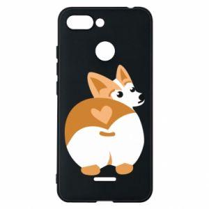 Phone case for Xiaomi Redmi 6 Corgi heart - PrintSalon