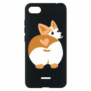 Phone case for Xiaomi Redmi 6A Corgi heart - PrintSalon