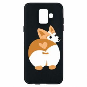 Phone case for Samsung A6 2018 Corgi heart - PrintSalon