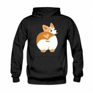 Kid's hoodie Corgi heart