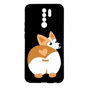 Etui na Xiaomi Redmi 9 Serce Corgi