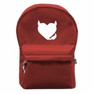 Backpack with front pocket Devil's heart