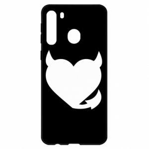 Samsung A21 Case Devil's heart