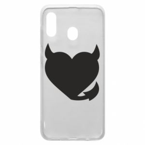 Phone case for Samsung A20 Devil's heart