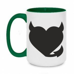 Two-toned mug 450ml Devil's heart