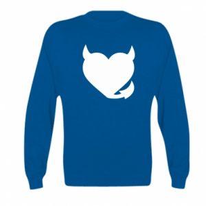 Kid's sweatshirt Devil's heart