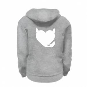 Kid's zipped hoodie % print% Devil's heart