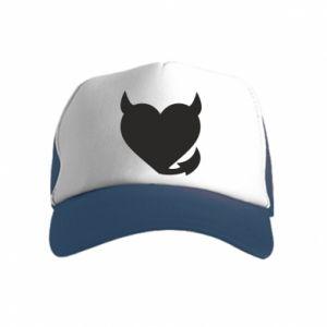 Kid's Trucker Hat Devil's heart
