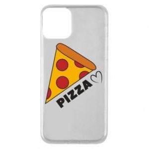 Etui na iPhone 11 Serce miłość pizzy