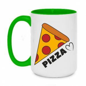 Kubek dwukolorowy 450ml Serce miłość pizzy