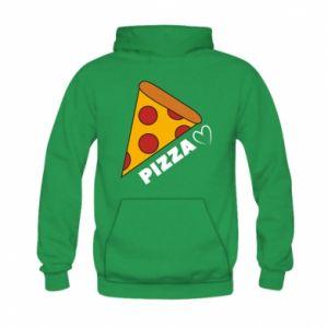 Bluza z kapturem dziecięca Serce miłość pizzy
