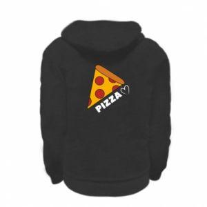 Bluza na zamek dziecięca Serce miłość pizzy