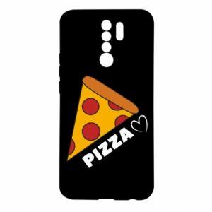 Etui na Xiaomi Redmi 9 Serce miłość pizzy