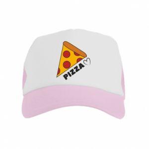 Czapka trucker dziecięca Serce miłość pizzy