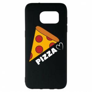 Etui na Samsung S7 EDGE Serce miłość pizzy