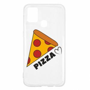 Etui na Samsung M31 Serce miłość pizzy