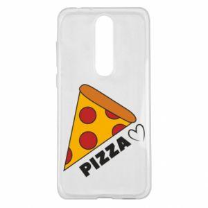 Etui na Nokia 5.1 Plus Serce miłość pizzy