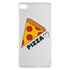 Etui na Huawei P8 Serce miłość pizzy