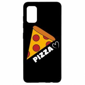 Etui na Samsung A41 Serce miłość pizzy