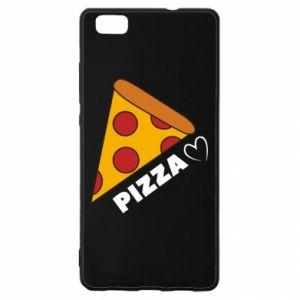 Etui na Huawei P 8 Lite Serce miłość pizzy