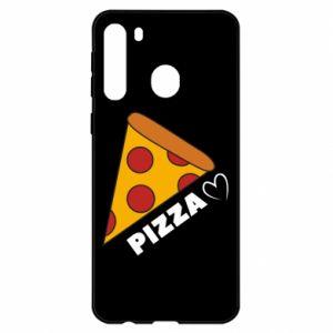 Etui na Samsung A21 Serce miłość pizzy